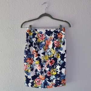 The Limited Floral Pencil Skirt